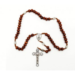 Wooden Rosary with metal Crucifix