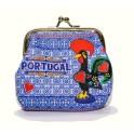 Blue Portugal Souvenir Coin Purse