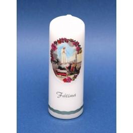 Fatima souvenir candle - round