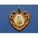 Fatima medal heart