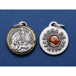 Medal with Apparitions and earth from Fatima