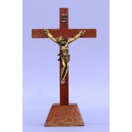 Wooden Desk Crucifix