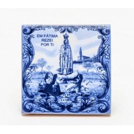 Fatima Blue Tile Magnet
