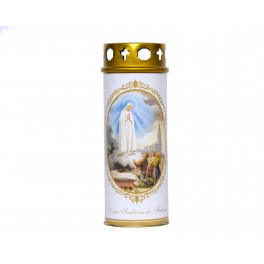 Fatima Candle with Topper