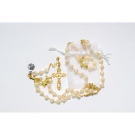 White Roses Christmas Rosary